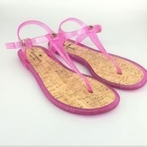 Kate Spade Yari Pink Jelly Sandals 6 New